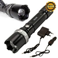 tactical flashlight police heavy duty 3w rechargeable image